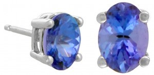 Tanzanite Stud Earring Pair
