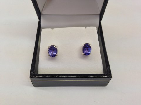 Tanzanite earrings on Sale