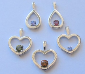 Sterling Silver Valentines Jewellery Pendants