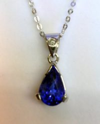 Pear Shaped Tanzanite Pendant