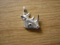 Rhino Pendant With Tanzanite Eye