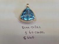 60 Carat Blue Topaz