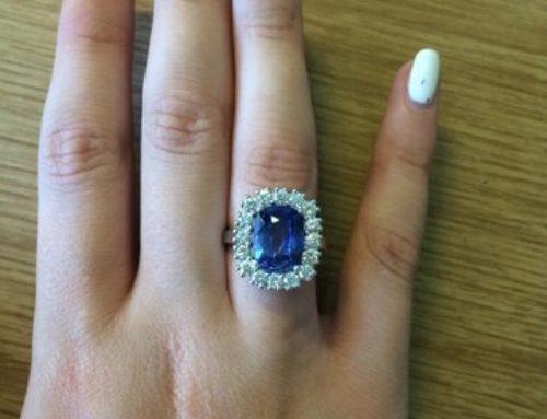 Recent sapphire and diamond ring