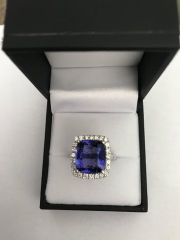 Tanzanite white gold ring South Africa
