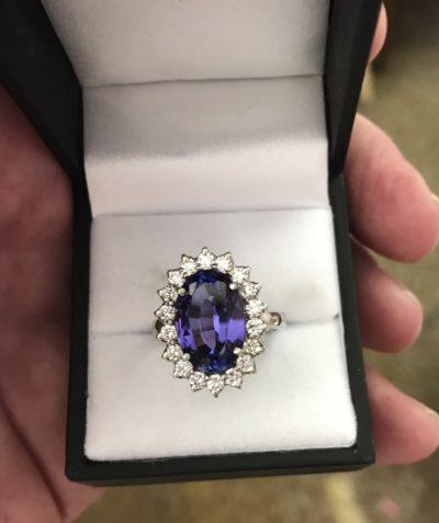 tanzanite diamond ring custom made